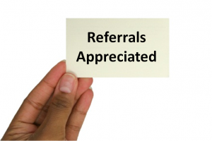 ask for sales referrals